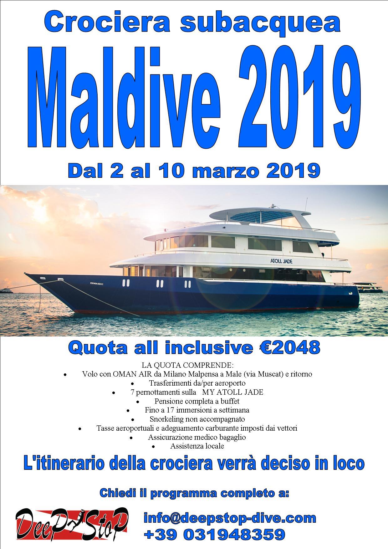Crociera Maldive 2019 Deep stop